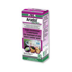 תרופה לטיפול בכנימות קרפיון ותולעים עוגנות ARADOL PLUS 250 JBL