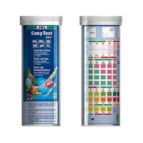 סטיקים לבדיקת 6 ערכי מים EASYTEST 6IN1 JBL