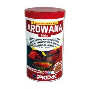 מזון ארואנות, פלאוורים ותוכים 1200 מל- Arowana Sticks-PRODAC