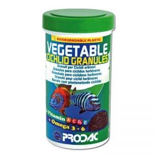 מזון צמחי לציקלידים- Vegtebale cichlid granules- PRODAC